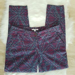 CAbi Palm Beach Crop Slim Pants Style 806 Size 8